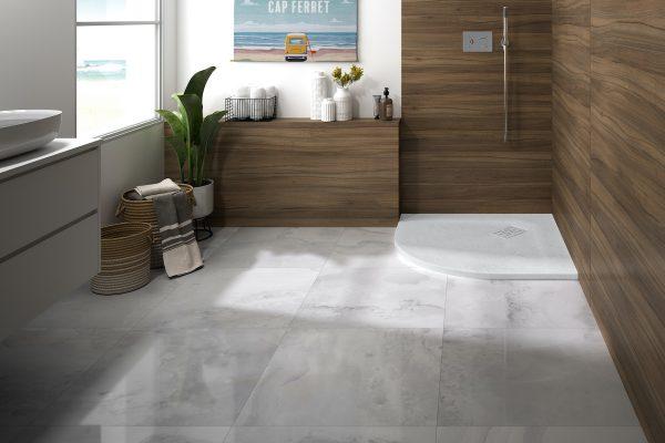 sfeerbeeld van een landelijke badkamerstijl